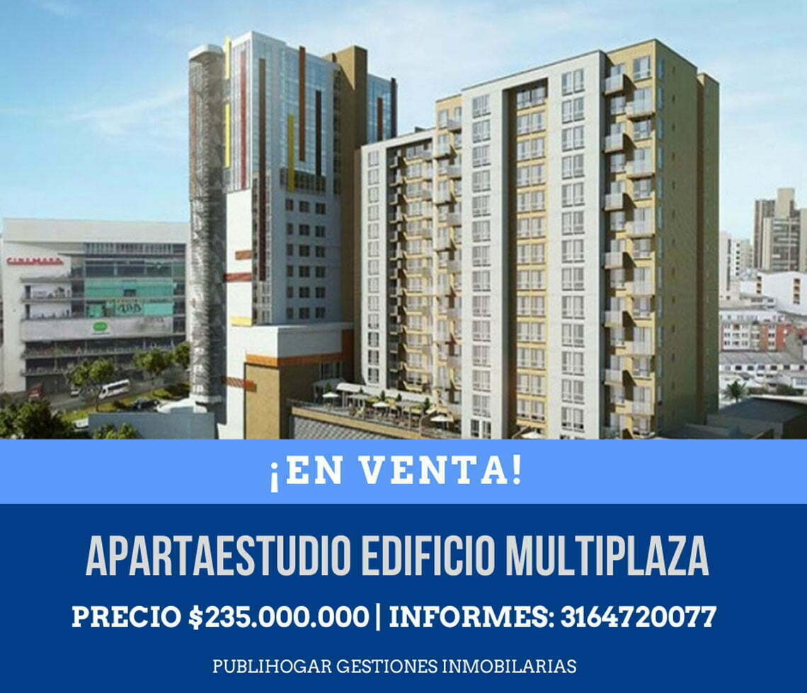 Venta apartaestudio Multiplaza sector Cable